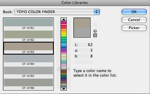 Photoshop Color Library Picker